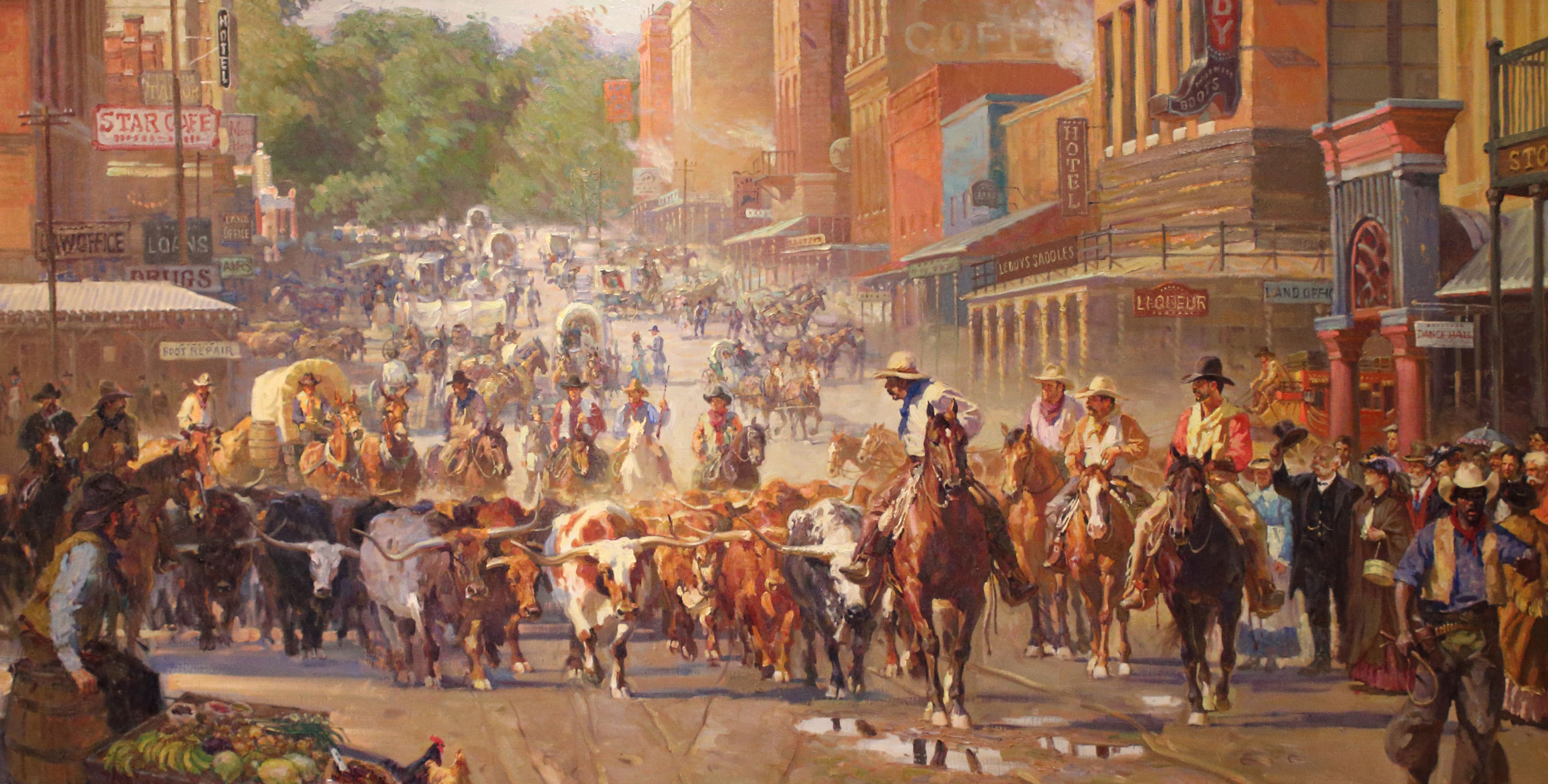 Arriving Fort Worth painting by Xiang Zhang